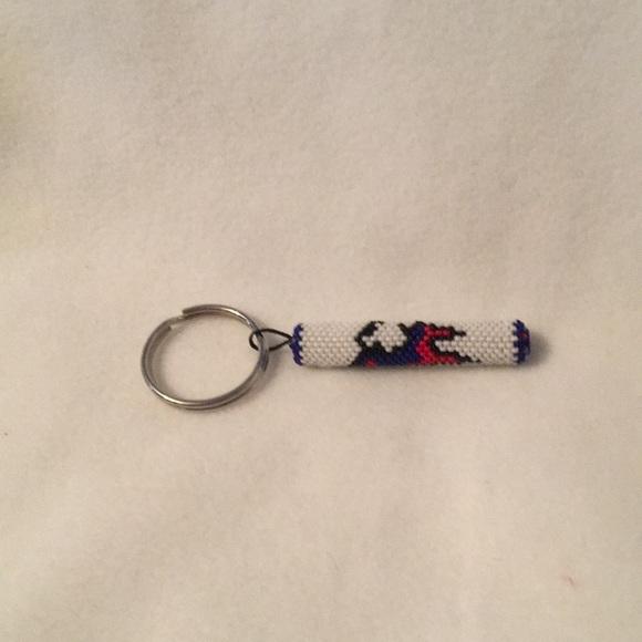 Accessories - Hand beaded zipper pull patriots design.